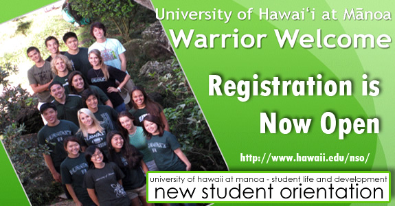 Fall 2013 New Student Orientation registration is now open! Visit NSO to register and learn more.