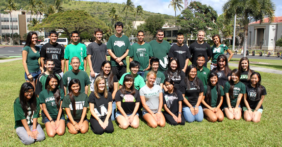 Welcome back to the UH Mānoa and the Fall 2016 semester! (Photo: New Student Orientation @ UH Mānoa)