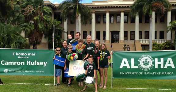 The UH Mānoa ohana greeted Make-a-Wish teen, Camron Husley and her family with a surprise welcome rally. Read more >>