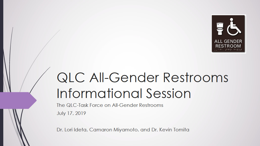 QLC All-Gender Restrooms Information Session thumbnail